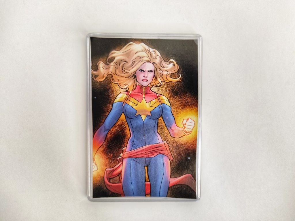 Captain Marvel Powers Large Comic Book Fridge Magnet/Mini Frame
